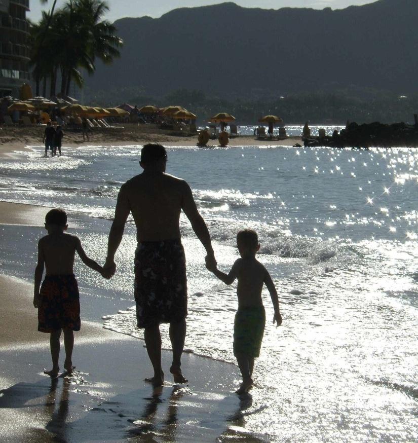 My three guys beach silhouette