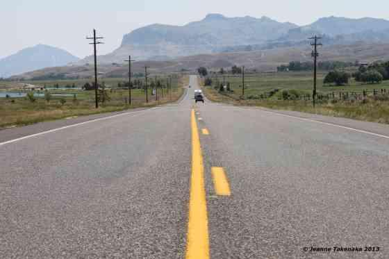 Yellowstone flat road
