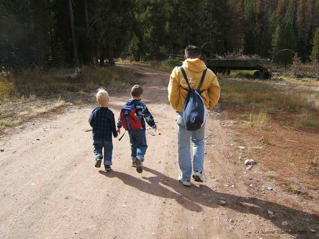 Hiking with boys