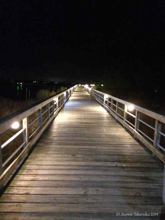 Boardwalk at night