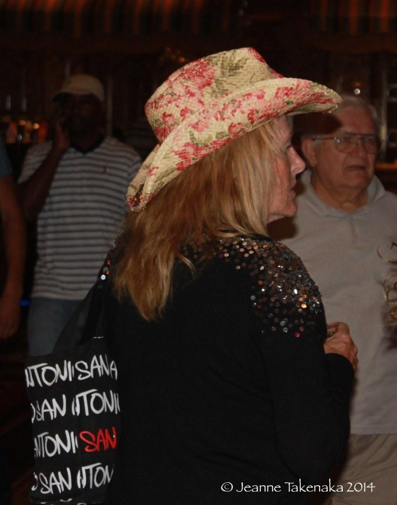 Floral cowboy hat