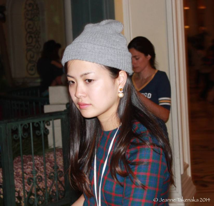 Young lady stocking cap