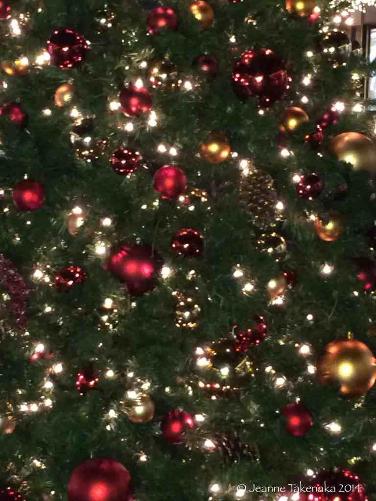 Christmas lights and ornaments