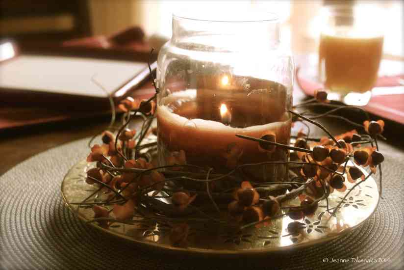 Morning candle light