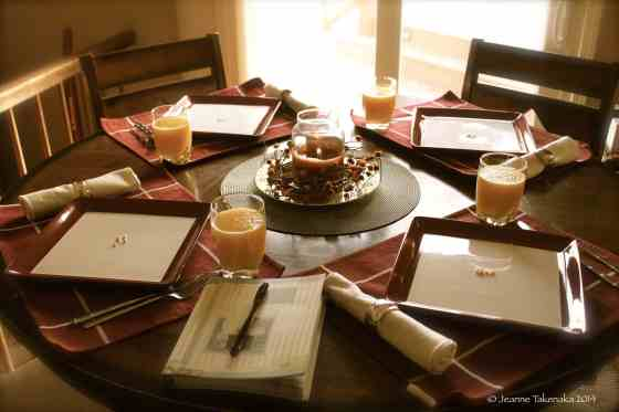 Thanksgiving Breakfast table
