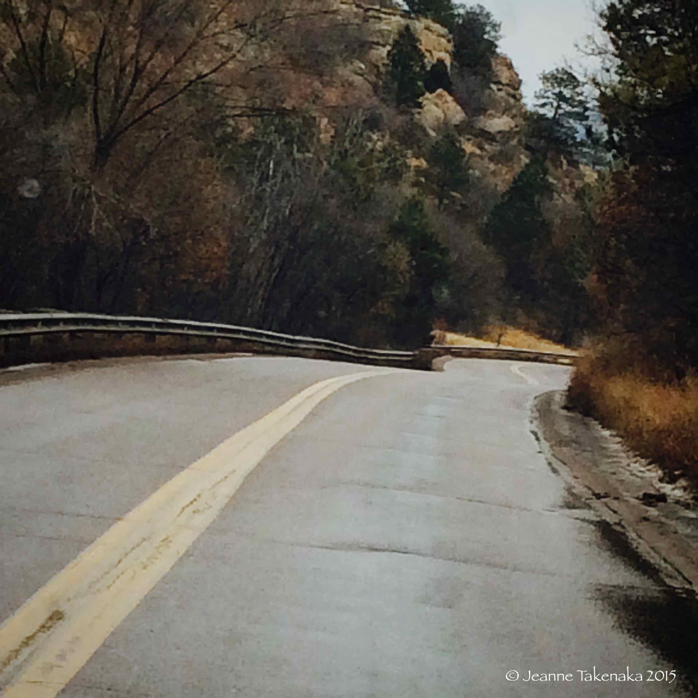 Rainy day road