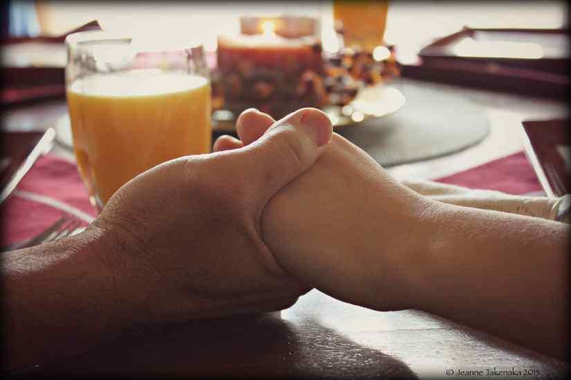 Hands held 1
