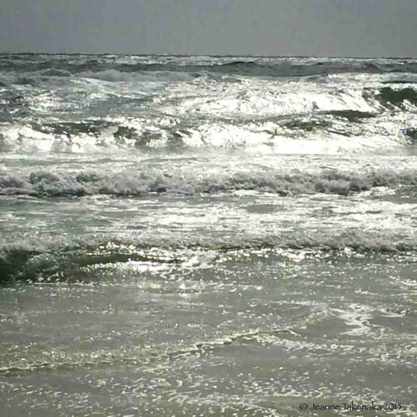 Sunlight on waves