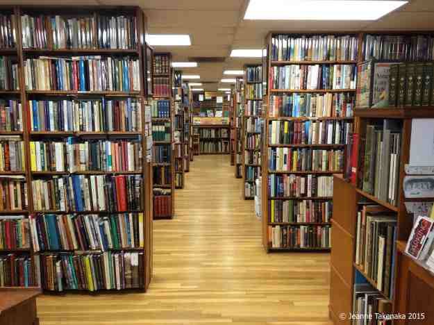 Used bookstore shelves