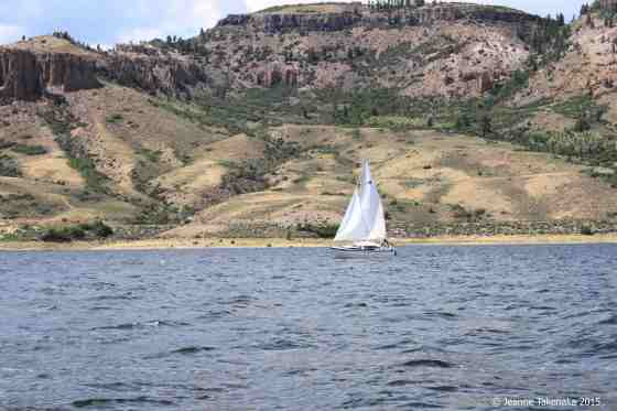 sailboat in shallows