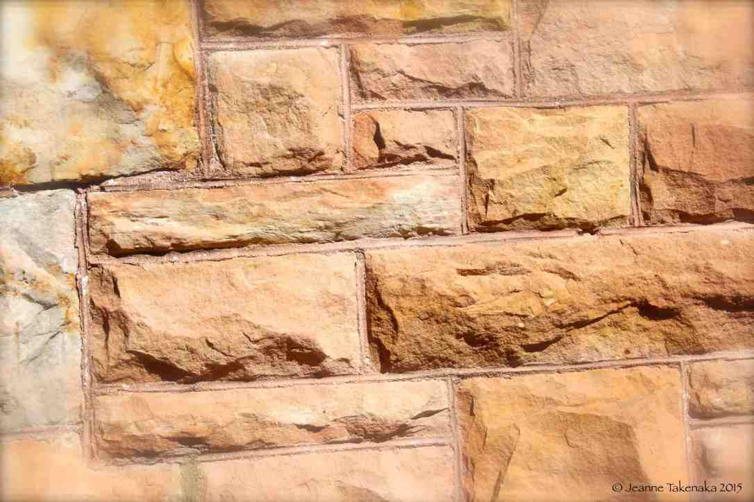 Stony brick wall