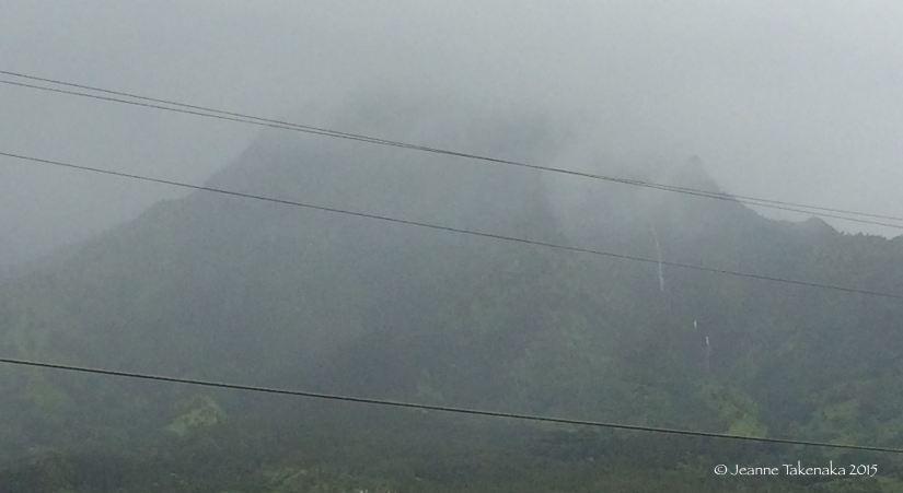 Foggy waterfall