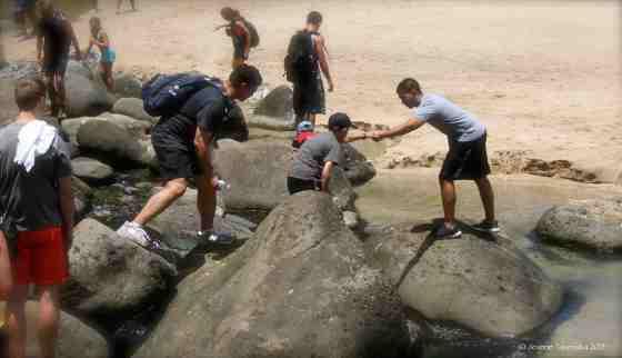 Help across the rocks