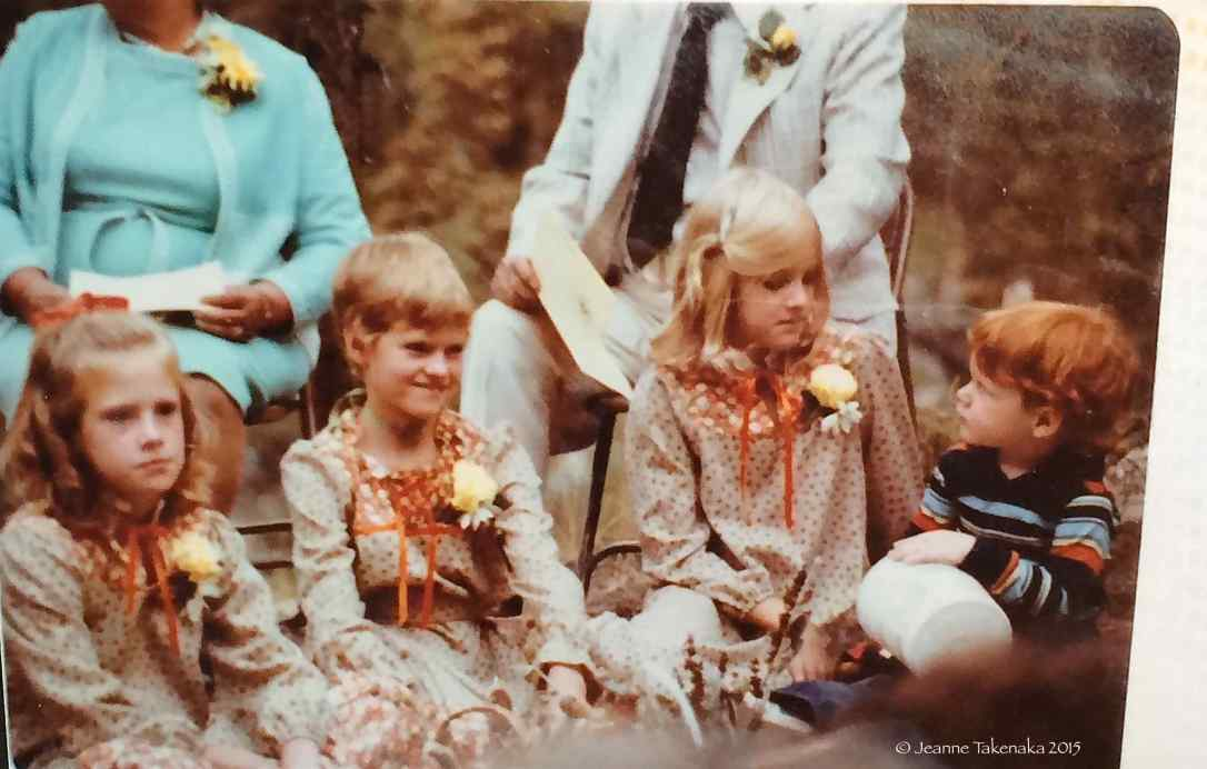 This is a picture of my sisters and me when I was about ten years old. :)