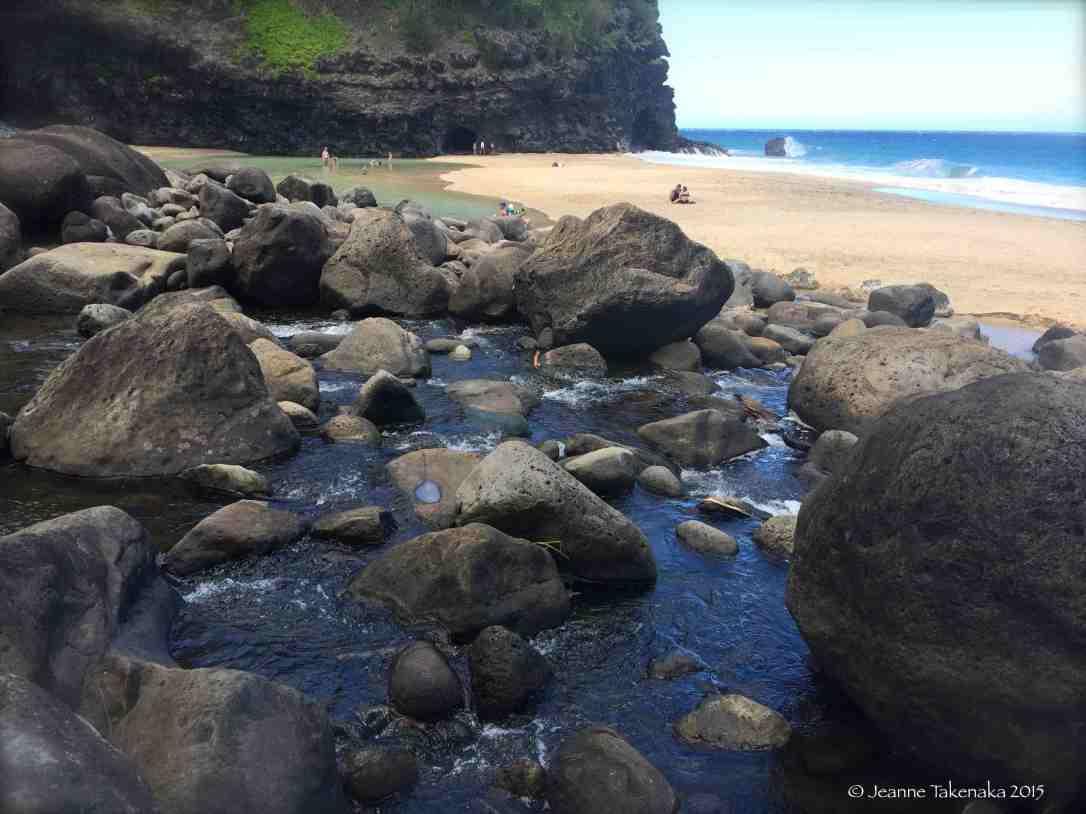 River rocks K-trail