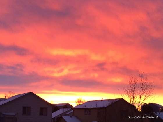 Blazing sunset beauty