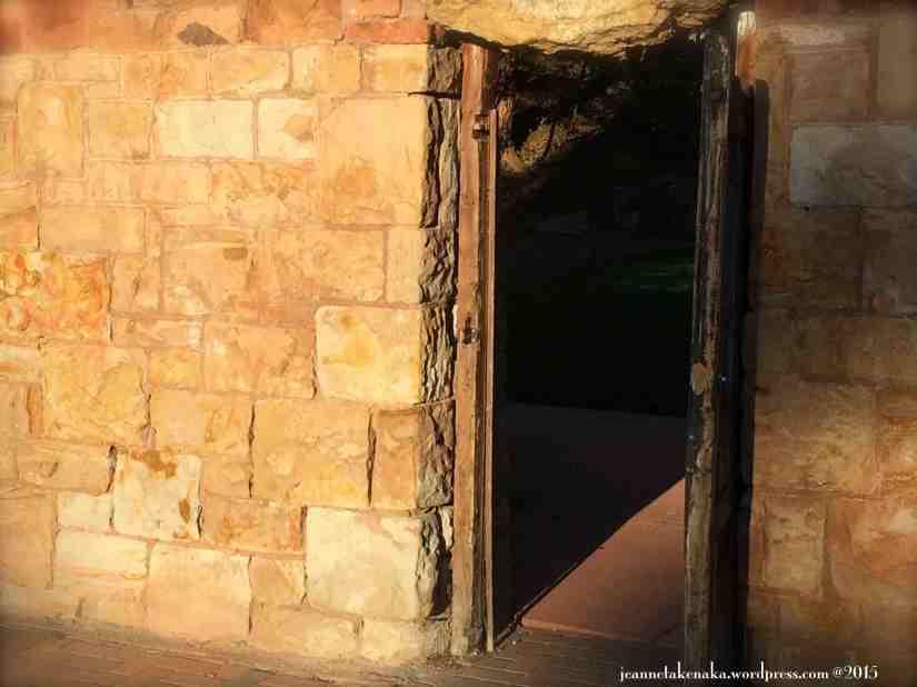 Rocky doorway