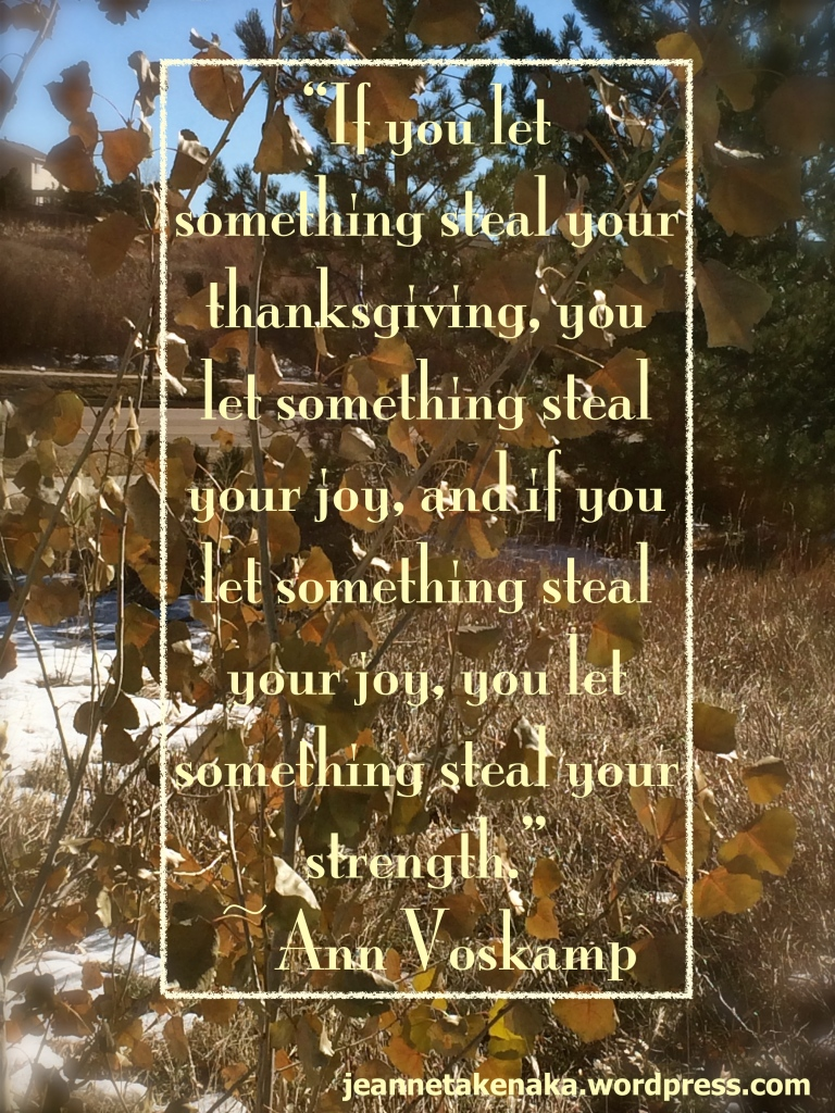 A Voskamp Thanksgiving and joy