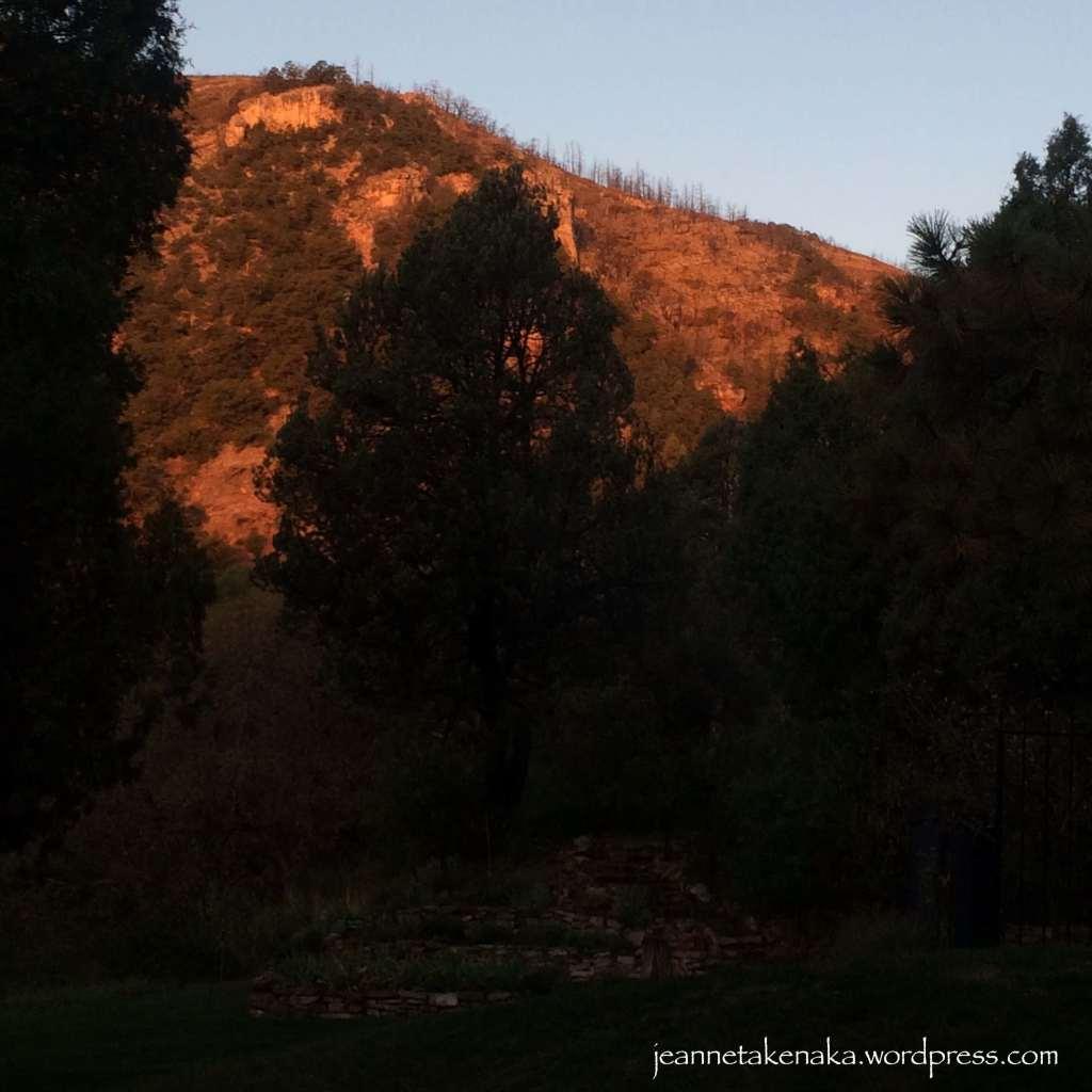 Sunrise on burnscar