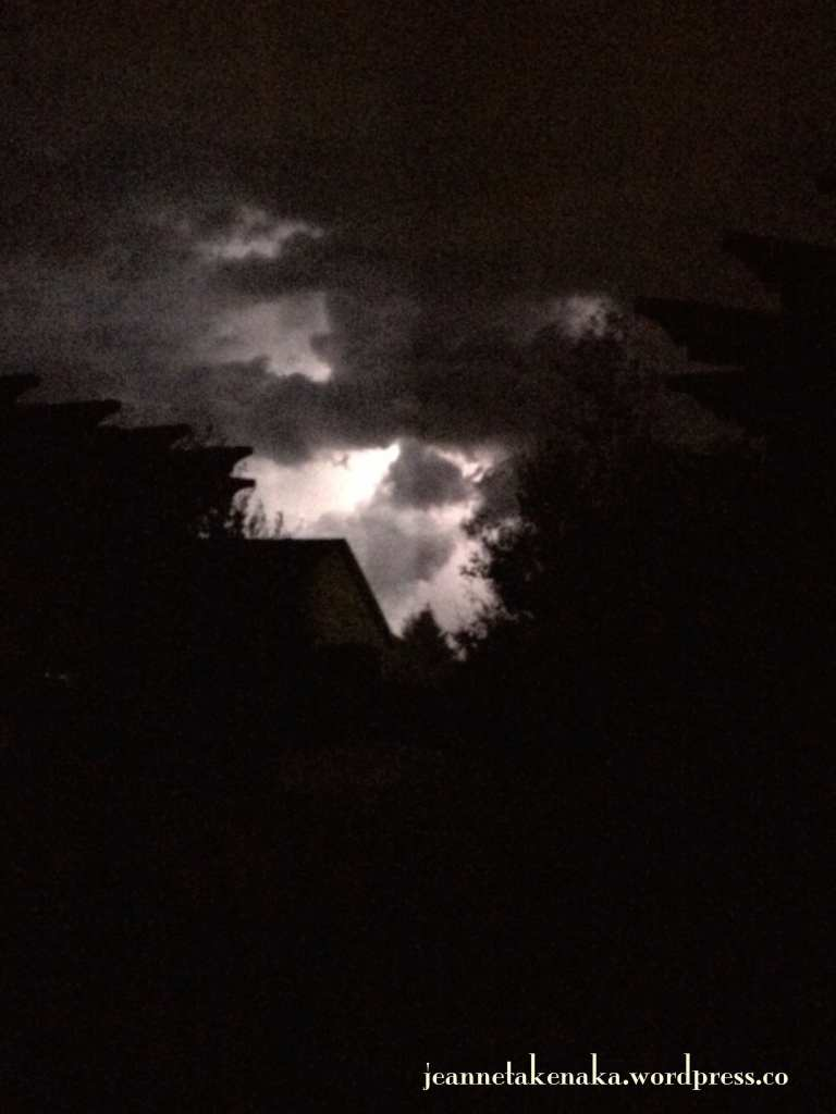 lightning night sky
