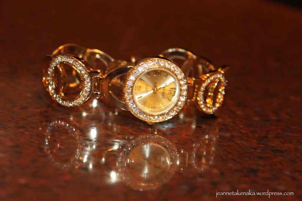 Glittery watch