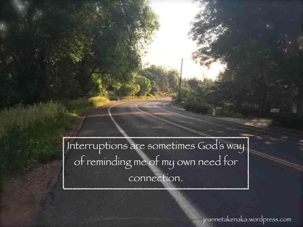 Interuptions God's way copy