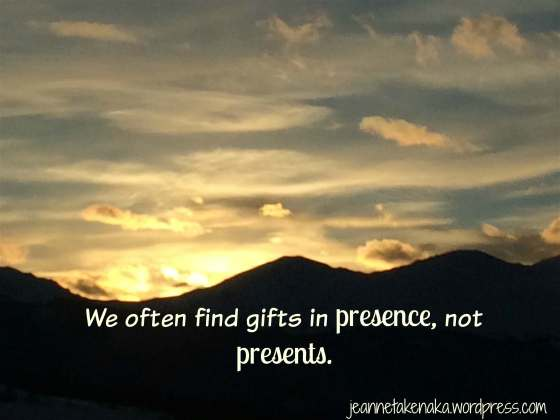 Presence not presents quote copy
