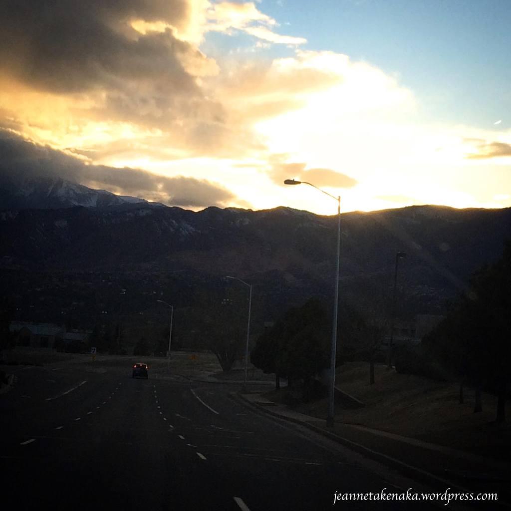 Cloud lit sky