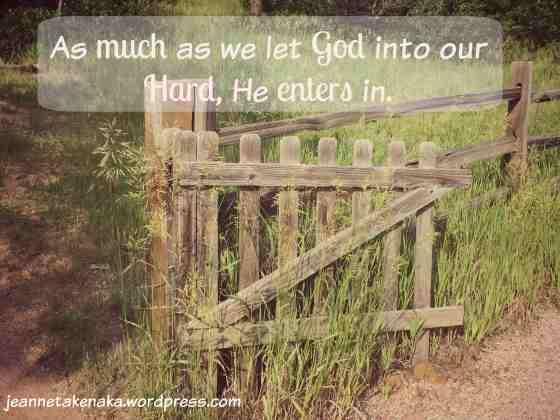 Let God into the hard 2 copy