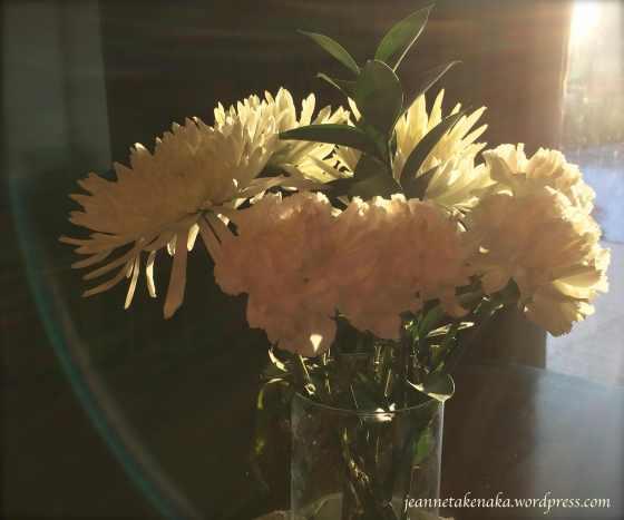Morning light on flowers