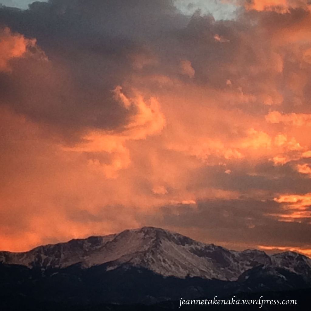 P. Peak sunset