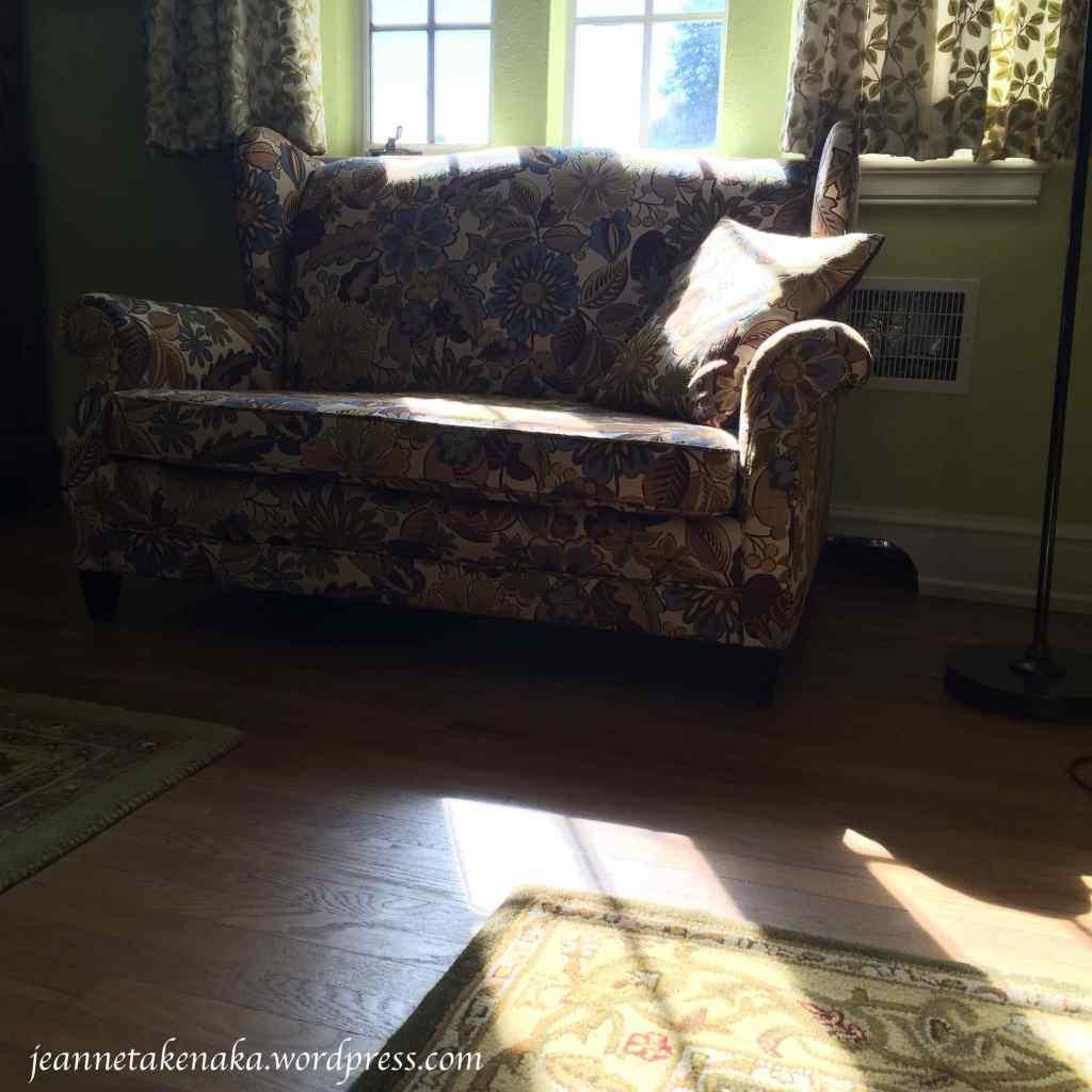 sofa and light