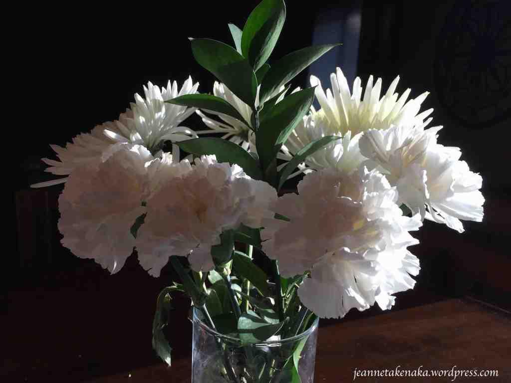 white flowers in sunlight