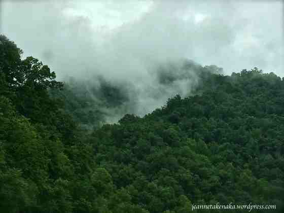 Misty clouds after storm