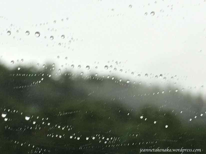 Rain running sideways