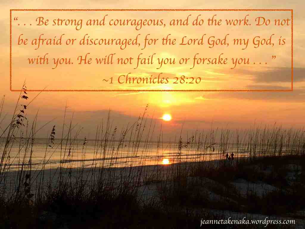 1 Chron 28-20 God won't forsake copy