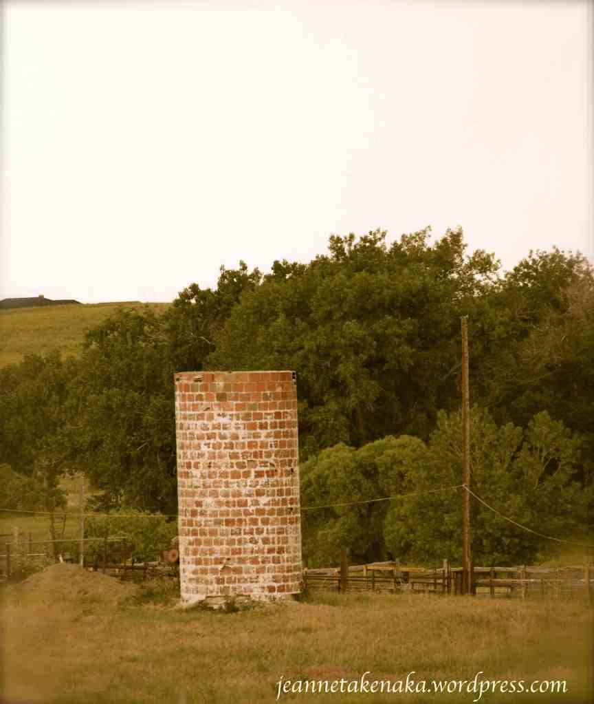 Lonely brick silo