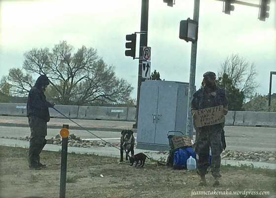 two homeless men