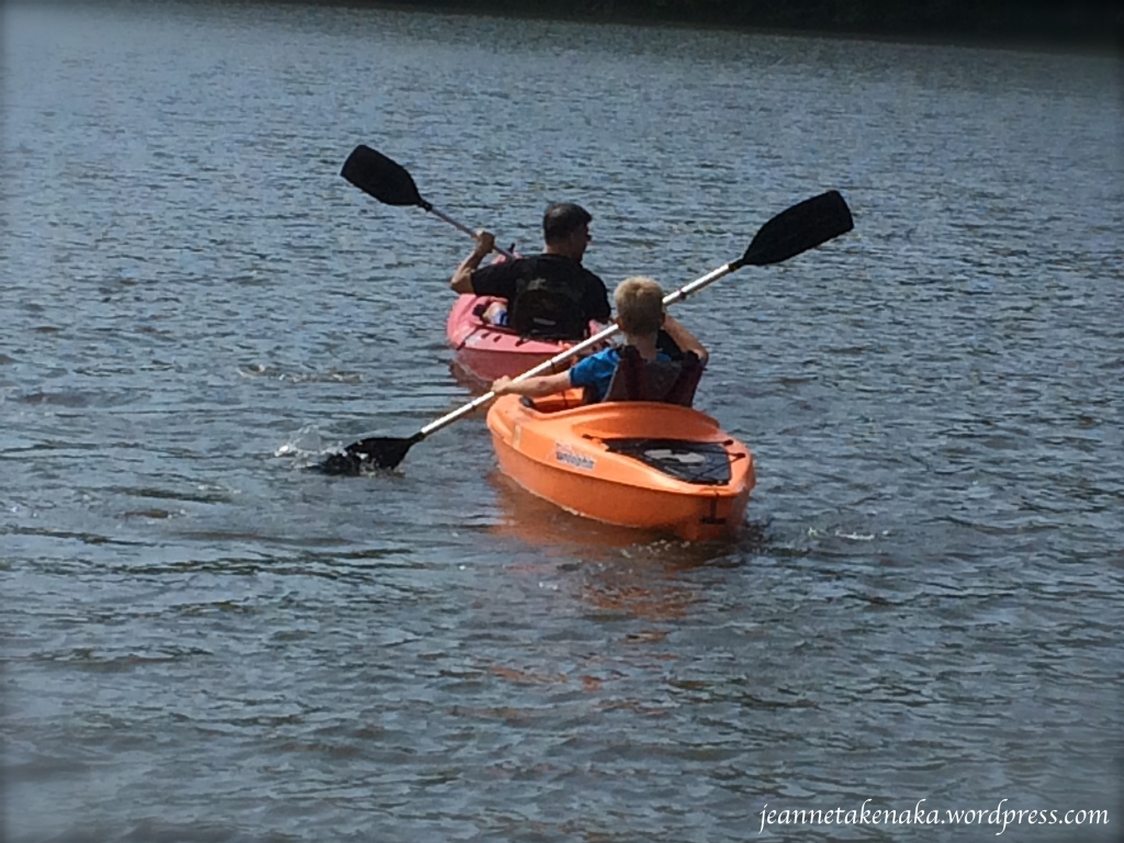 Father-son kayaking