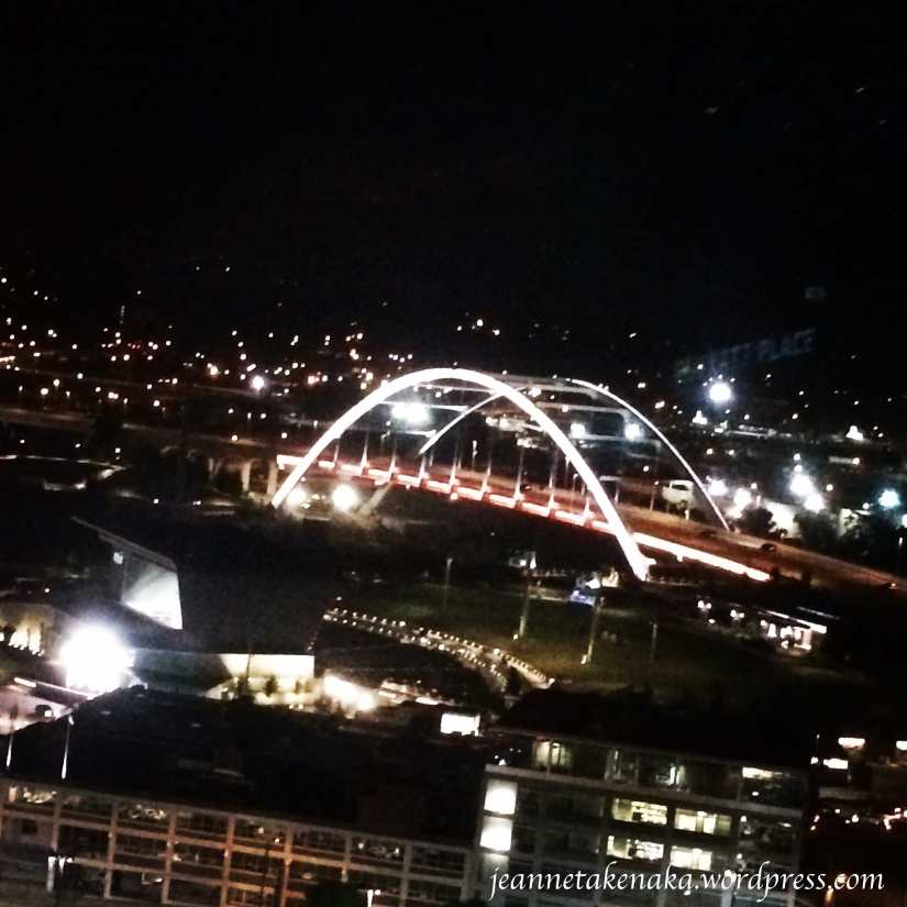 Nashville bridge at night