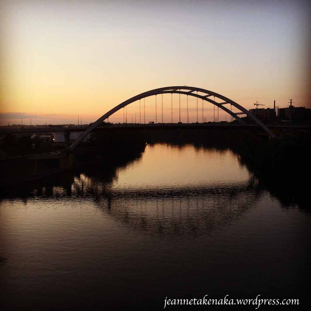 Nashville bridge at sunrise