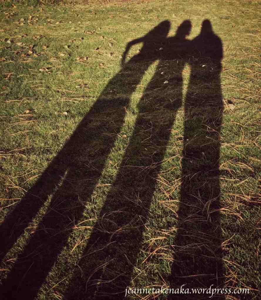 Three friends silhouette