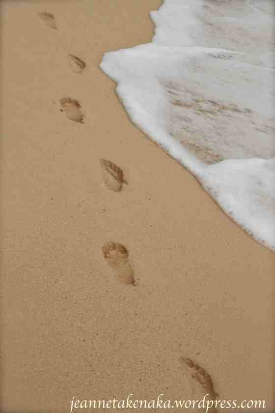 footprints-near-waves