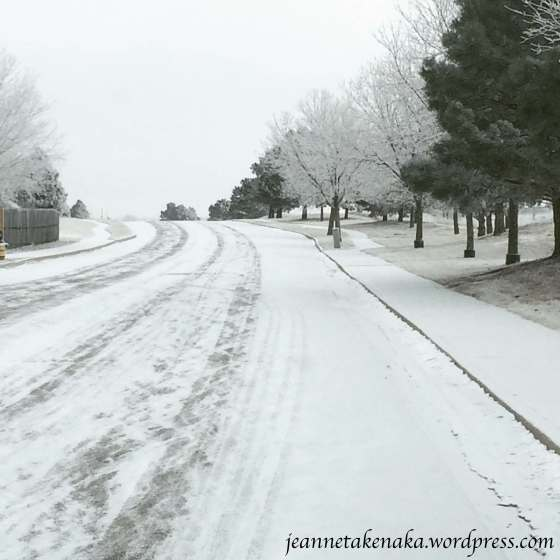 black-and-white-winter-road