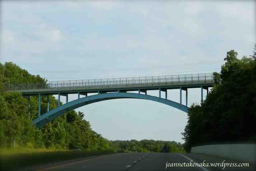 a bridge in Ohio crossing an interstate