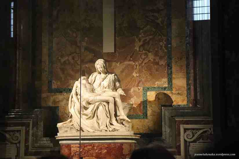 Sculpture of Mary holding Jesus' body