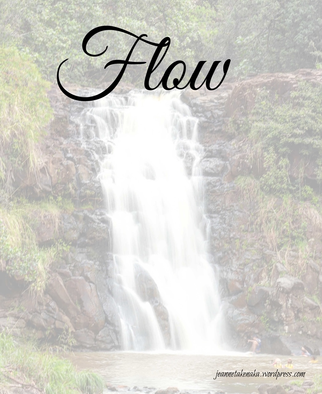 A meme with a waterfall and the word Flow at the top of the image