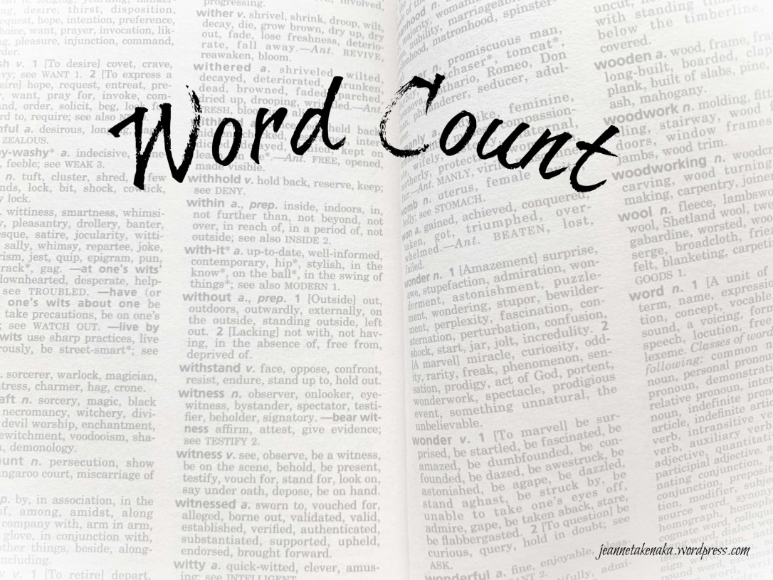 Meme: Word Count super imposed over a dictionary page